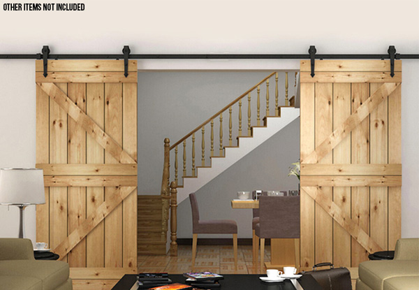 Sliding Door Barn Door Track Hardware Set - Four Sizes Available