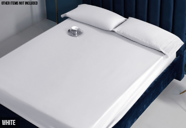 Ramesses Elite Spring Fresh Egyptian Cotton Sateen Fitted Sheet Combo Set 1500TC - Five Sizes & Eight Colours Available