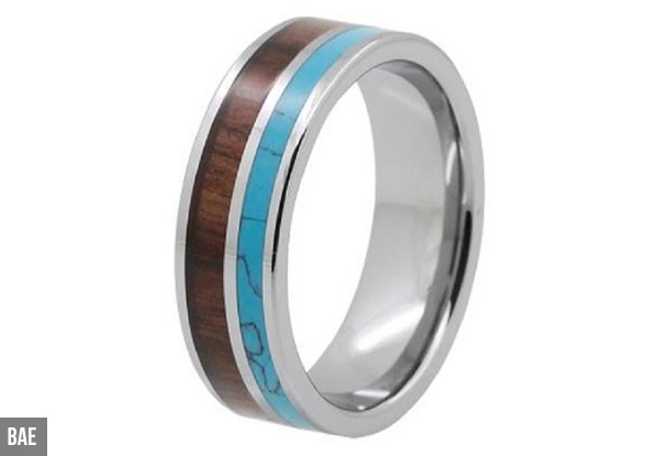 Men's Tungsten Ring - Nine Styles Available