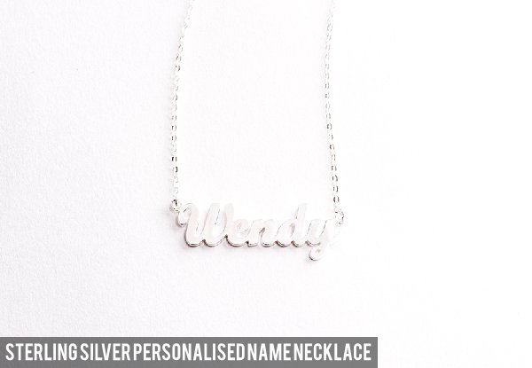 925 Silver Personalised Necklace - Seven Styles Available & Option for Bracelet