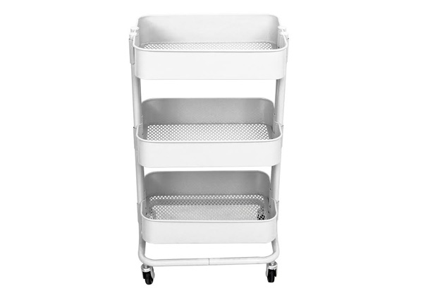 Three-Tier Metal Utility Rolling Cart