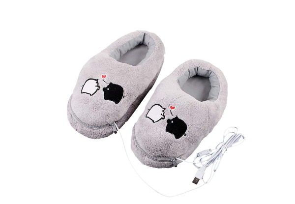 USB Heated Cosy Slippers with Free Delivery