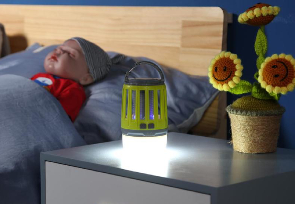 Two-in-One Rechargeable Mosquito Zapping Lamp & Torch - Three Colours Available
