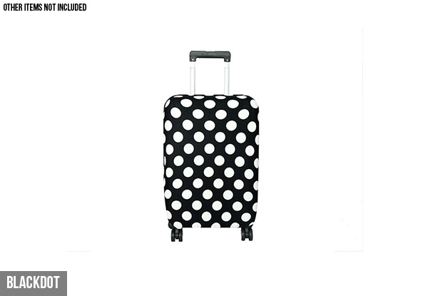 Stretchy Travel Luggage Cover - Four Sizes & Four Styles Available & Option for Two
