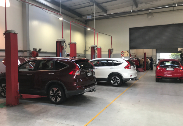 Honda Car Service incl. Oil & Oil Filter Replacement, Tyre Inspection & More - Options to incl. W.O.F, Wheel Alignment, A/C Disinfecting or Pollen/Air Filter