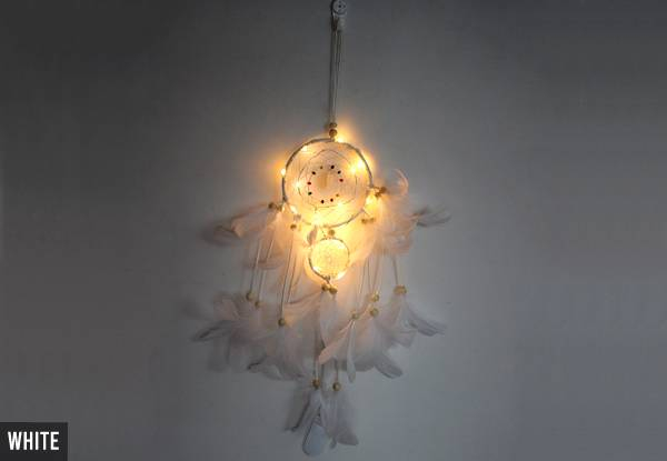 LED Feather Dreamcatcher - Five Colours Available