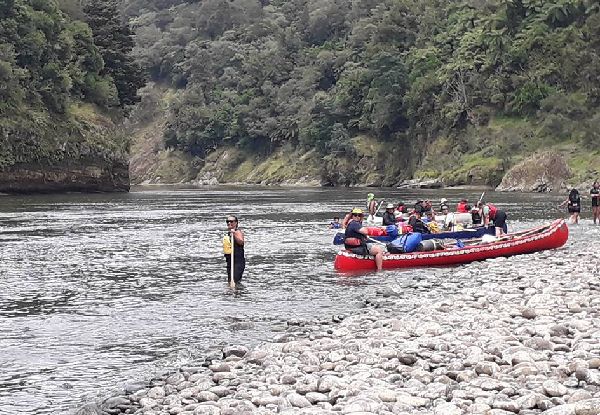 One Night's Accommodation incl. Three, Four or Five-Day Whanganui River Canoe or Kayak Hire for an Adult - Options for Child or Two Adults