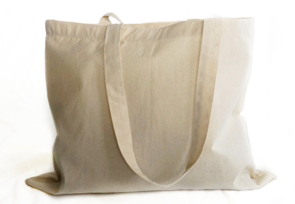 Canvas Tote Shopping Bag - Option for Two with Six Styles Available