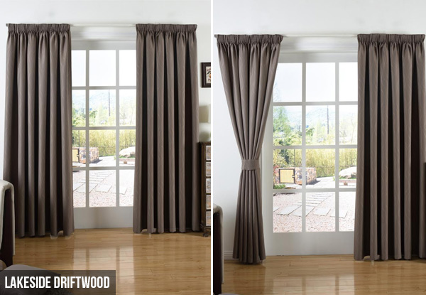 Self-lined Pencil Pleat Readymade Curtain - Three Designs Available