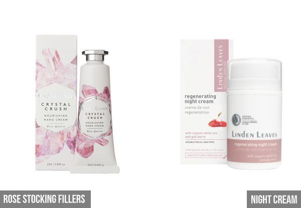 Linden Leaves Skin & Relaxation Essentials Skincare Range - Ten Options Available