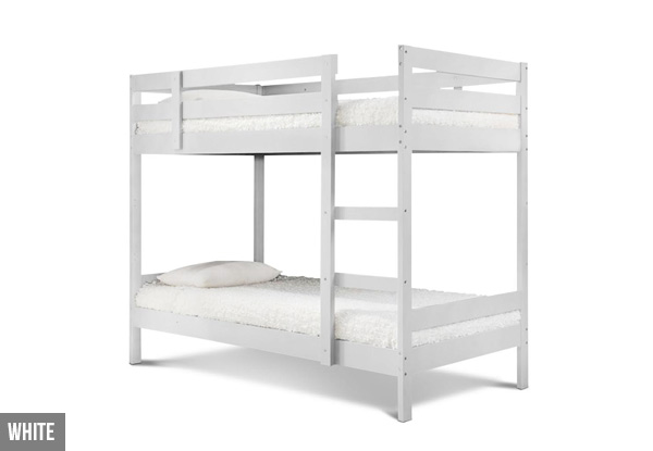 Wood Bunk Beds - Two Colours Available