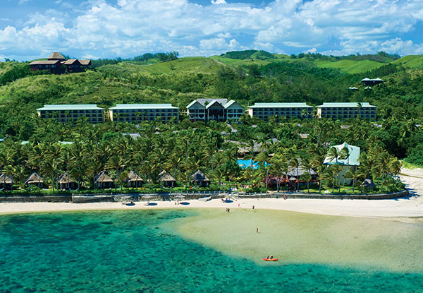 Per Person Twin-Share 5-Star Stay at the Outrigger Fiji Beach Resort incl. Airport Transfers, Accommodation, Daily Breakfast, Snorkelling Gear & More - Book Before 31st of January & Two Children Stay & Eat Free - Options for Five & Seven Nights Available