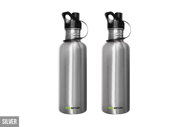 Two 1L Stainless Steel SafeBottles - Two Designs Available