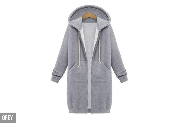 Long-Sleeve Hoodie Dress - Three Colours Available