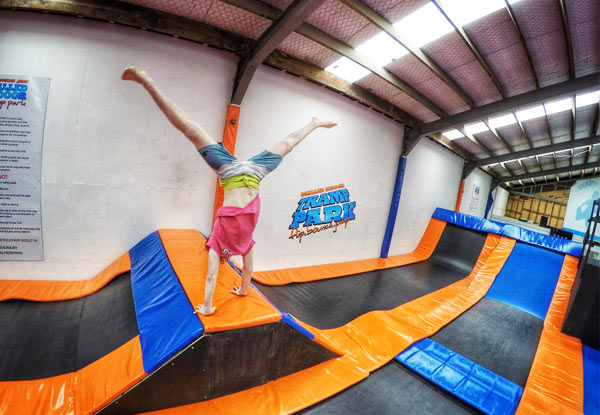 $15 for a Two-Hour Indoor Tramp Park Entry for Two People (value up to $30)