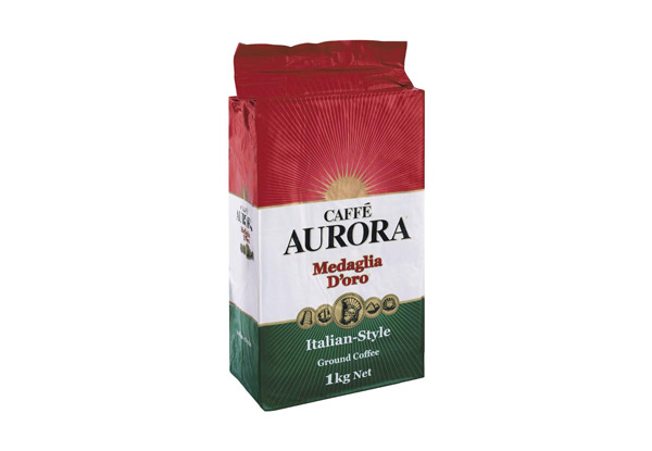 Caffe Aurora Ground Coffee Italian Style 1kg
