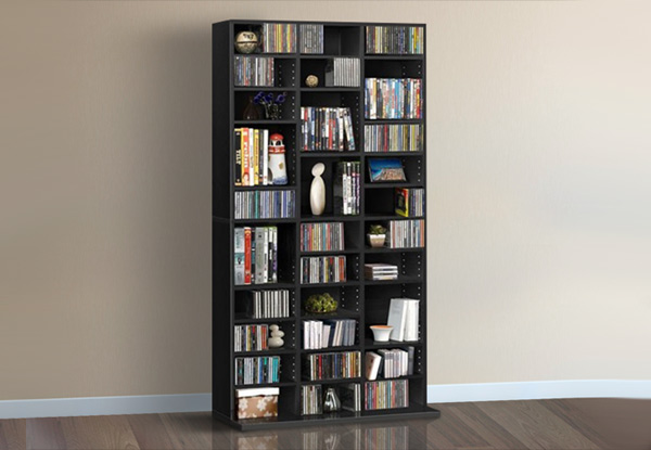 Adjustable CD/DVD Storage Shelf - Two Colours Available