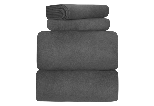 Fleece Queen Sheet Set in Steel Grey