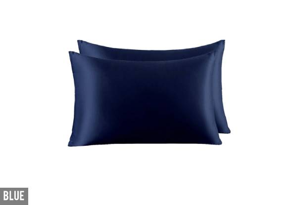 Two-Pack of 100% Mulberry Silk Pillow Cases - Seven Colours Available