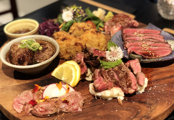 Waitaha Wagyu Dine-In Meat Platter incl. a House Wine or Beer for Two People - Options for Takeaway & up to Six People