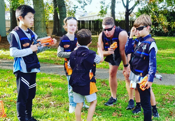 Kids' Nerf Gun Battle or Laser Strike Party for up to 10 Kids - Options for up to 14 or 20 Kids