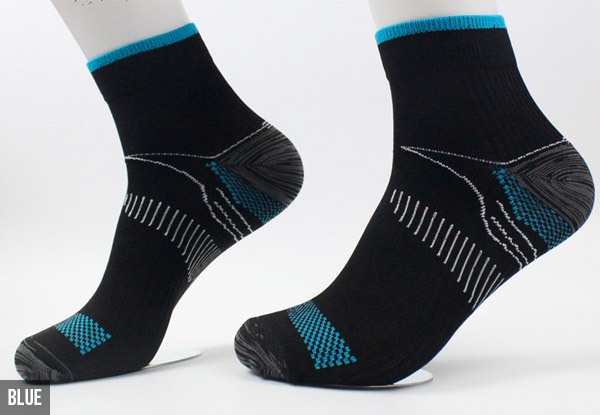 Three Pairs of Compression Socks - Three Colours Available