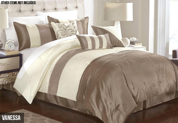 Seven-Piece Comforter Set - Three Sizes & Two Styles Available
