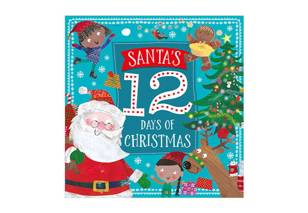 Six-Pack of Christmas Picture Books in Bag with Polar Bear Key Ring