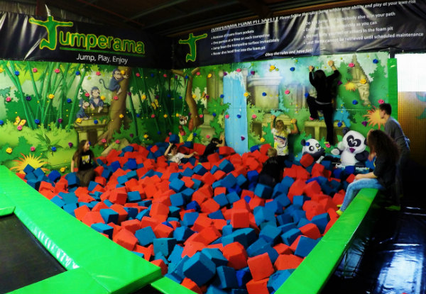 One Hour of Indoor Trampolining & Jumperama Non-Slip Socks - Newtown Location Only