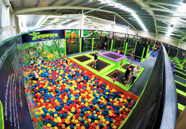 60-Minute Tramp Park Entry incl. Non-Slip Socks -  Valid at Hutt Park and Newtown
