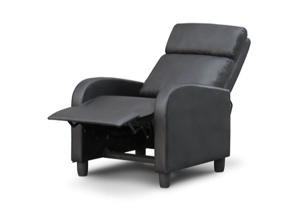 Black or Grey Recliner Chair