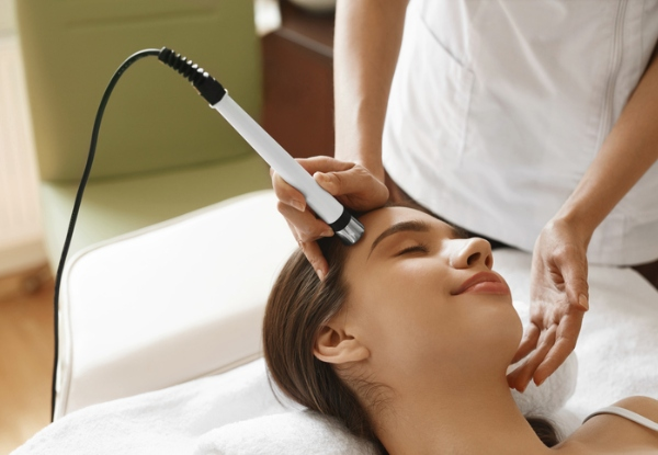 60-Minute Repairing Facial with LED Mask Light Therapy & Foot Massage - Option for Microdermabrasion with Deep Hydrating Facial