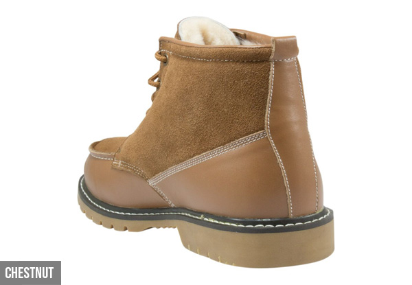 Auzland Unisex Leather Sheepskin Lace Up UGG Boots - Two Colours Available