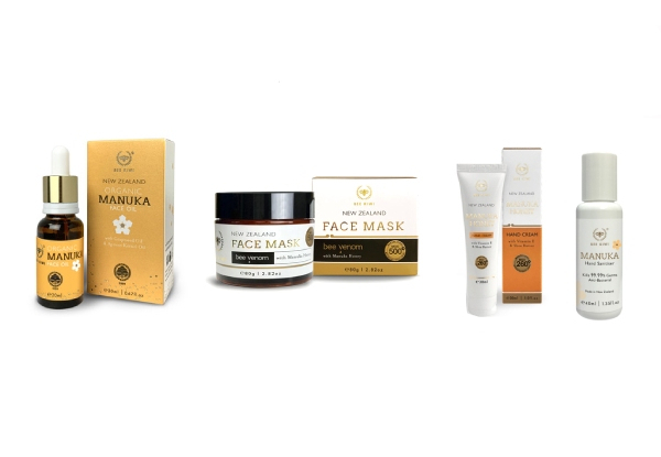 Bee Kiwi Manuka Honey Beauty Range - Three Options Available