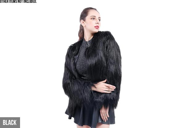 Faux Fur Jacket - Five Colours & Sizes Available