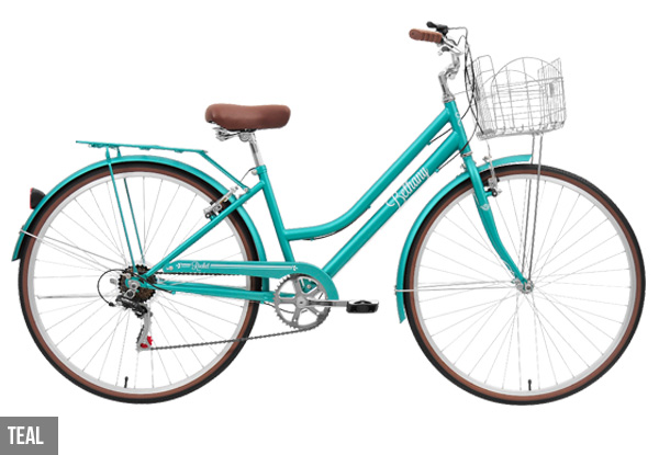 Bethany Vintage Style Bicycle with Basket Carrier & Free Delivery - Two Colours Available