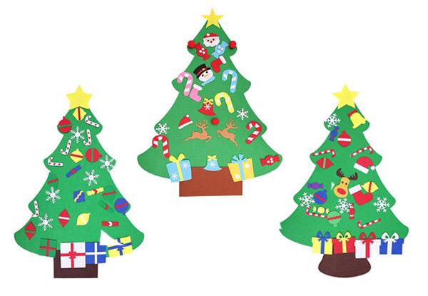 Diy Wall Hanging Felt Christmas Tree