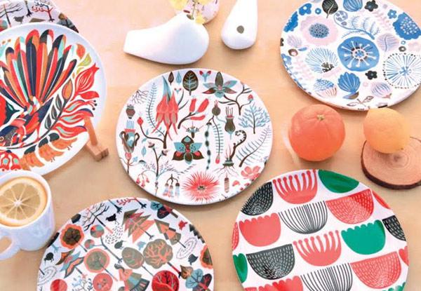 $25 for a Set of Five Kiwiana Melamine Plates (value $59.90) & Set of 5 Kiwiana Plates u2022 GrabOne NZ