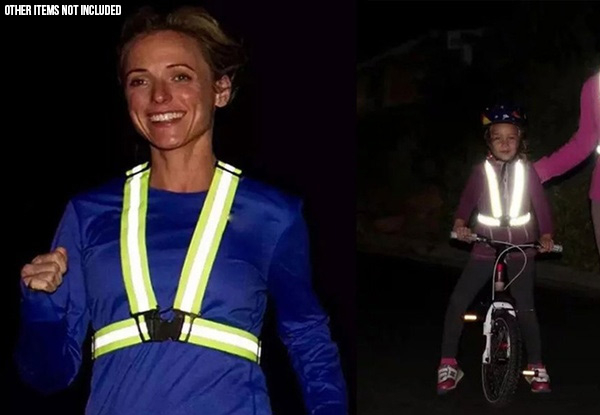 Reflective Night Running Vest - Option for Two