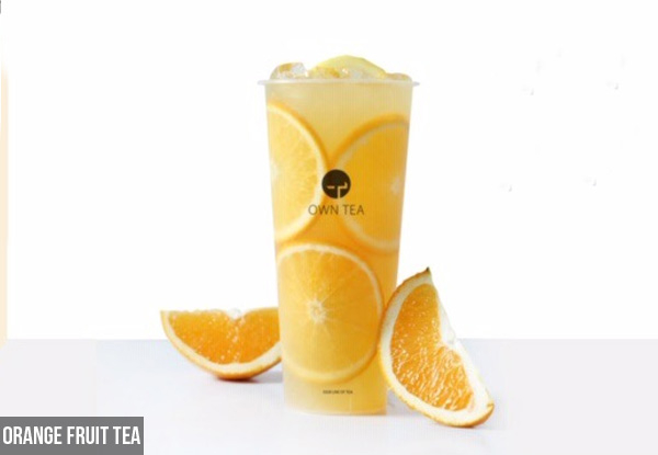 Deliciously Fresh Fruit Tea - Options for Milk Tea & Cream Toppings & Multiple Flavours Available