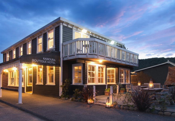 Fabulous Five-Star One-Night Kaikoura Stay in a Waterfront Room incl. French Champagne & Canapes on Arrival & Breakfast - Option for Two-Nights