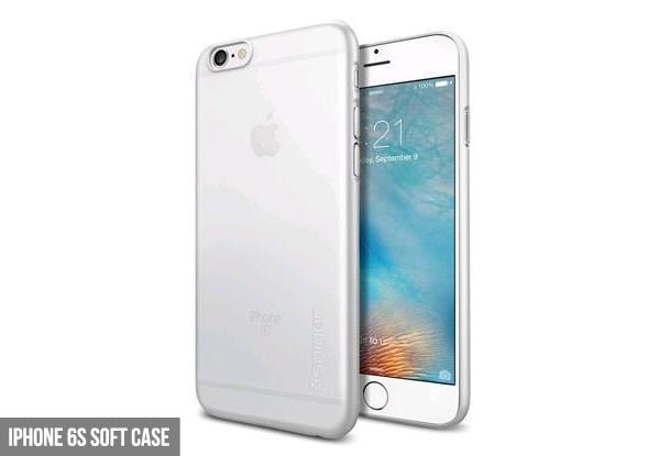 the latest 46b15 9e2f0 Spigen iPhone 6s Soft Case