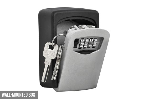 Wall Mounted Key Lock Box With Four-Digit Combination