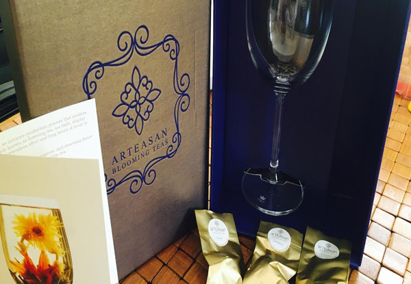$38 for a Gift Pack incl. Three Tea Varieties & Heat Resistant Wine Glass