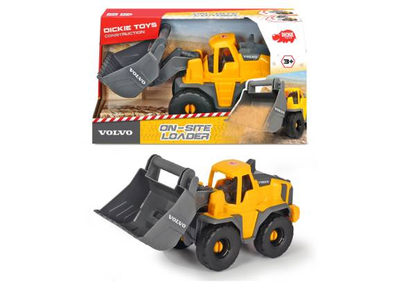 Dickie Volvo On-Site Machinery Toy Range - Three Options & Option for Set of Three Available