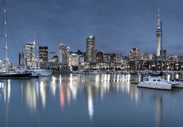 Per-Person Twin-Share Queen's Birthday Auckland Package incl. Fly/Stay/Rail
