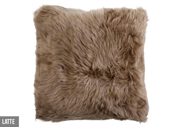 Genuine Premium Australian Merino Filled Cushion - Four Colours Available