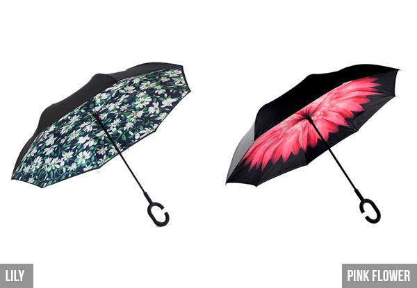 Wind Resistant Reversible Umbrella - 16 Designs Available
