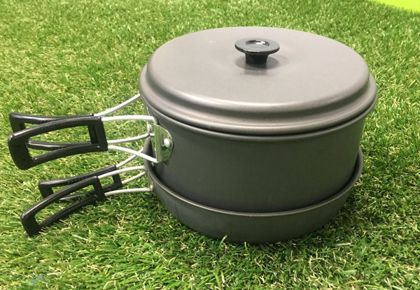 Seven-Piece Hard Anodised Camp Cookset