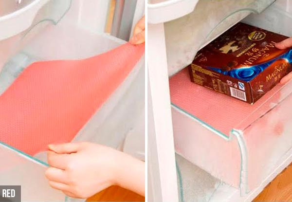 Four Washable Oil-Resistant Non-Slip Refrigerator Mats - Three Colours Available
